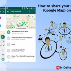 How to share your Clinic address (Google Map) on WhatsApp?